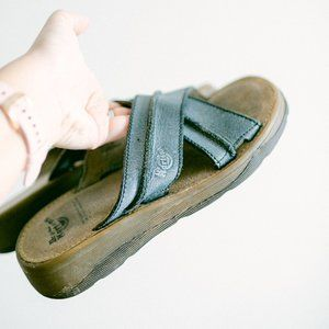 Vintage Dr. Martens Slate Muted Blue Sandals US 6